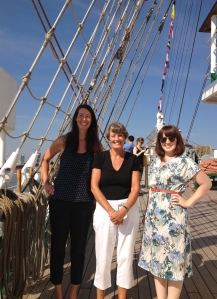 L–R Liz, Janet and Jenny of the Adlard Coles team